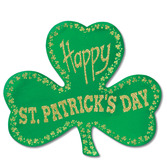 St. Patrick's Day Decorations Glittered Foil Shamrock Image
