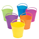 Easter Favors & Prizes Bright Plastic Pail Image
