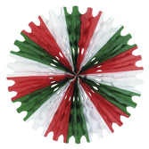 Cinco de Mayo Decorations Red-White-Green Tissue Fan Image
