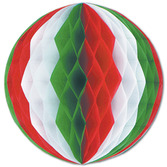 "Cinco de Mayo Decorations 12"" Red-White-Green Tissue Ball Image"