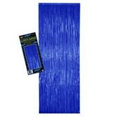 4th of July Decorations Blue Metallic Fringe Curtain Image