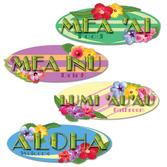 Luau Decorations Hawaiian Sign Cutouts Image