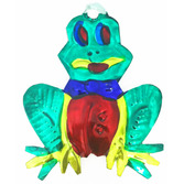 Fiesta Decorations Frog Tin Ornament Image