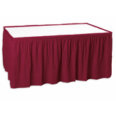 Table Accessories Table Skirt Burgundy Image