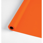 Halloween Table Accessories 100' Table Roll Orange Image