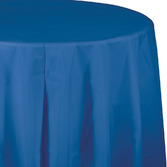 4th of July Table Accessories Round Table Cover Royal Blue Image