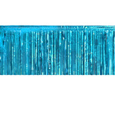 Jungle & Safari Table Accessories Teal Metallic Fringe Table Skirt Image