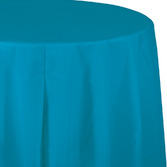 Table Accessories Round Table Cover Turquoise Image