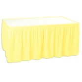 Baby Shower Table Accessories Table Skirt Yellow Image