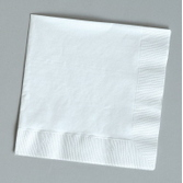 Wedding Table Accessories White Beverage Napkins Image