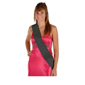 Party Wear Black Satin Sash Image