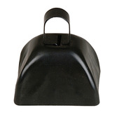 New Years Favors & Prizes Black Metal Cow Bell Image