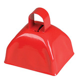 4th of July Favors & Prizes Red Metal Cow Bell Image