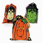 Halloween Gift Bags & Paper Plastic Halloween Drawstring Bags Image