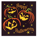 Halloween Table Accessories Pumpkin Grin Luncheon Napkins Image