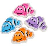 Luau Favors & Prizes Clown Fish Erasers Image