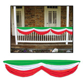 Cinco de Mayo Decorations Red White and Green Fabric Bunting Image