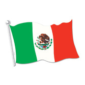Fiesta Decorations Mexican Flag Cutout Image
