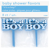 "Baby Shower Favors & Prizes ""It's A Boy"" Picks Image"