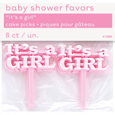 """Baby Shower Favors & Prizes """"It's A Girl"""" Picks Image"""