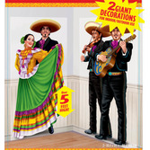 Cinco de Mayo Decorations Giant Fiesta Dancers and Mariachi Props Image
