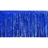 4th of July Decorations Blue Metallic Fringe Drape Image