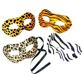 Mardi Gras Party Wear Animal Print Masks Image
