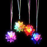Cinco de Mayo Glow Lights Crystal Star Ball Flashing Necklace Image