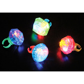 Birthday Party Glow Lights Jumbo Blinking Ring Image