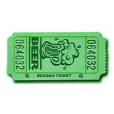 Tickets & Wristbands Green Beer Ticket Roll Image