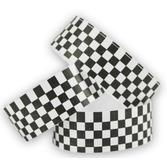 WB Tyvek Wristbands Black-White Checkerboard Image