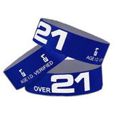 WB Tyvek Wristbands Over 21 Navy Blue Image