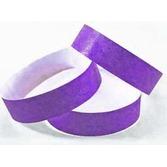 WB Tyvek Wristbands Purple Image