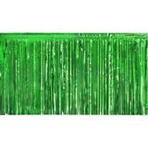 St. Patrick's Day Decorations Green Metallic Fringe Drape Image