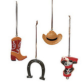 Western Favors & Prizes Resin Cowboy Ornament Image