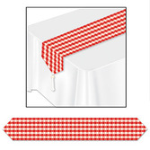 Western Table Accessories Red Gingham Table Runner Image