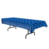 Western Table Accessories Blue Bandana Tablecover Image
