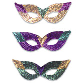 Mardi Gras Party Wear Mardi Gras Sequin Masks Image