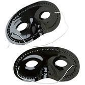 Mardi Gras Party Wear Black Half Masks Image