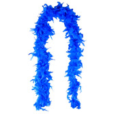 New Years Party Wear Blue Feathered Boa Image