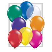 "New Years Balloons 11"" Assorted Jewel- Tone Balloons Image"