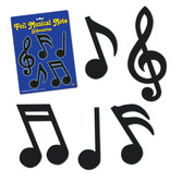 Fifties Decorations Foil Musical Notes Image