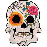Day of the Dead Decorations Sugar Skull Wooden Sign Image