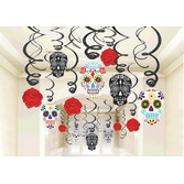 Day of the Dead Decorations DOD Swirls Image