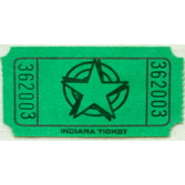 Tickets & Wristbands Green Star Ticket Roll Image