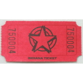 Tickets & Wristbands Red Star Ticket Roll Image