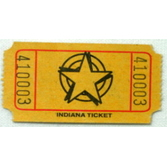 Tickets & Wristbands Yellow Star Ticket Roll Image