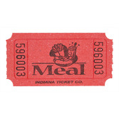 Tickets & Wristbands Red Meal Ticket Roll Image