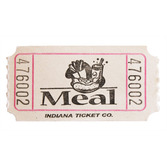 Tickets & Wristbands White Meal Ticket Roll Image