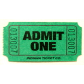 Tickets & Wristbands Green Admit One Ticket Roll Image
